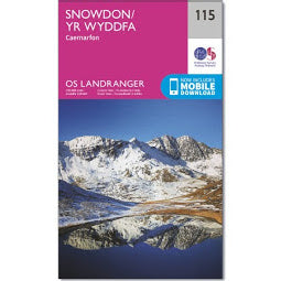 Front Cover of OS 115 Snowdon Map