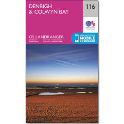 Front Cover of OS 116 Denbigh and Colwyn Bay Map