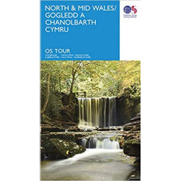 Front Cover of OS North and Mid Wales Travel Map
