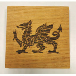 Load image into Gallery viewer, Welsh Dragon Oak Coaster
