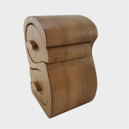 Double S Oak Trinket Box