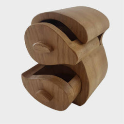 Load image into Gallery viewer, Double S Oak Trinket Box