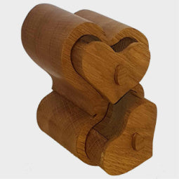 Load image into Gallery viewer, Heart 2 Heart Oak Trinket Box