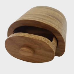 Small Oval 'Baker's Bun' Oak Trinket Box