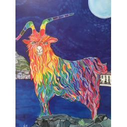 Load image into Gallery viewer, Rainbow Goat Print - Bay & Moon - A3