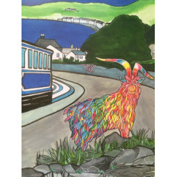 Load image into Gallery viewer, Rainbow Goat Print - Tramway - A4