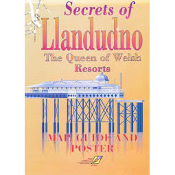 Front Cover of Secrets of Llandudno Map and Guide Poster