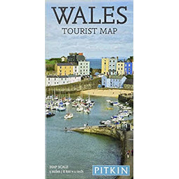 Front cover of Wales Tourist Map