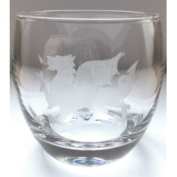 Welsh Dragon Etched Whisky Tumbler
