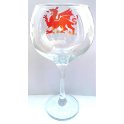 Welsh Dragon Gin Glass
