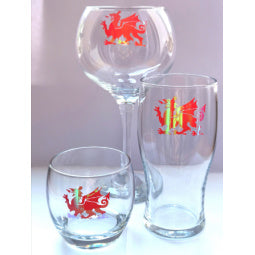 Welsh Dragon Whisky Tumbler