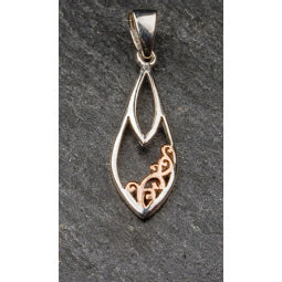 Image of Celtic pendant silver and rose gold