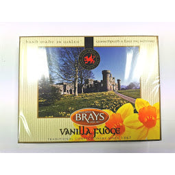 Front of box of Brays Vanilla Fudge