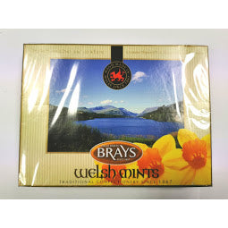 Front of Box of Brays Welsh Mints