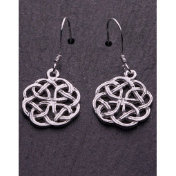 Celtic Earrings (Large) Sterling Silver