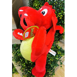 Image of large red dragon soft toy