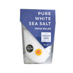 100g Sachet of Halen Mon Pure White Sea Salt