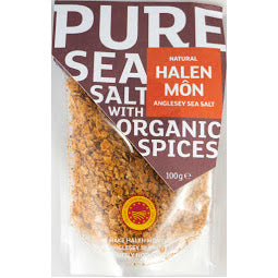 100g Sachet of Halen Mon Pure Sea Salt with Organic Spices