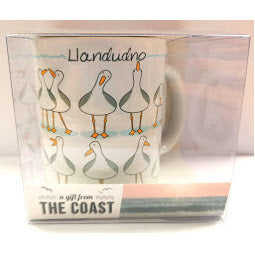 Llandudno Seagull Mug and Coaster Set