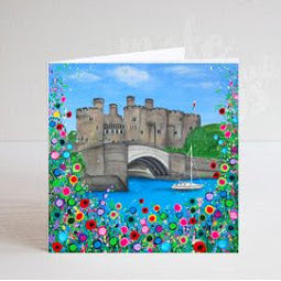 Front image of Conwy Castle Greeting Card