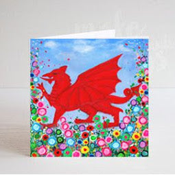 Welsh Dragon Greeting Card
