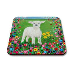 Image of coaster with Welsh lamb picture