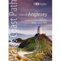 Front cover Top Ten Walks Anglesey guide book