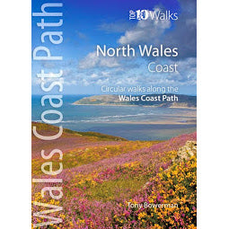 Load image into Gallery viewer, Front cover Top Ten Walks North Wales Coast guide book