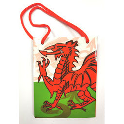 Image of Wales Flag Bag with red handles
