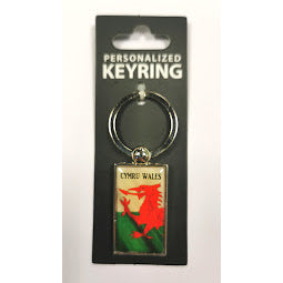 Keyring featuring the Welsh flag