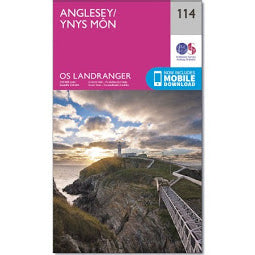 Front Cover of OS 114 Anglesey Map