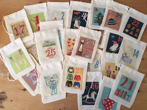 Festive Advent Calendar Christmas Bags