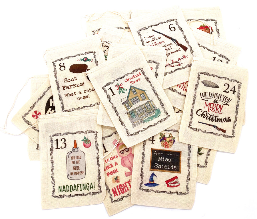 Christmas Story Advent Calendar Christmas Bags
