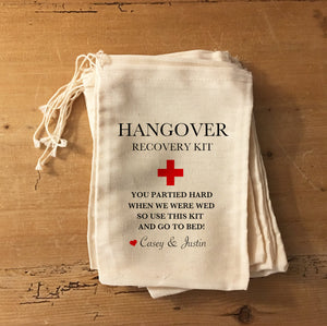 Partied Hard Wedding Recovery bag - Hangover Kit