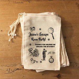 Escape Room Party Mystery Gift Party Favor Bag