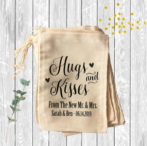 Hugs and Kisses from the new Mr. & Mrs. - Wedding Favor Bag