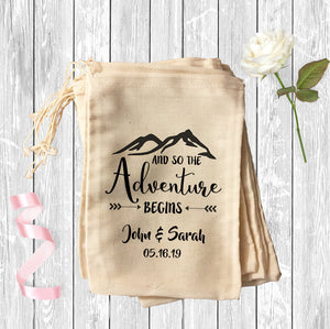 And So the Adventure Begins Wedding Party Favor Bag