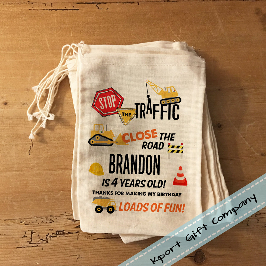 Construction Birthday Favor Bag