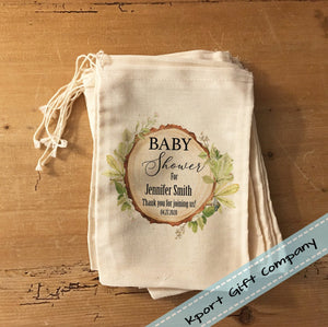 Rustic Woodland Baby Shower Gift Bag