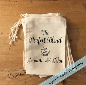 Perfect Blend Coffee Wedding Favor Bag