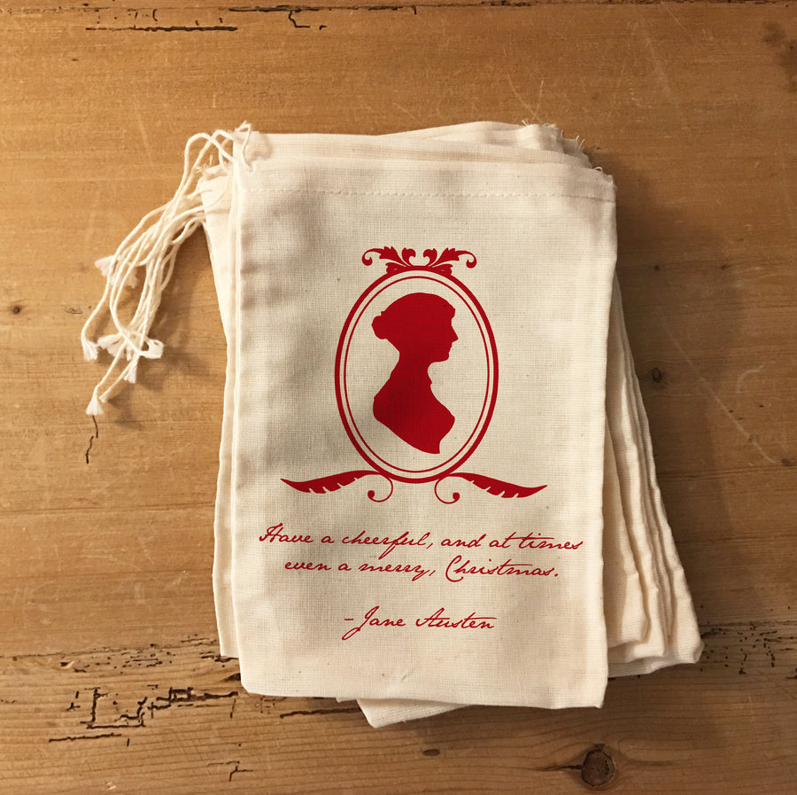 Jane Austen Christmas Holiday Favor Bags