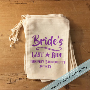 Bride's Last Ride Hangover Bag