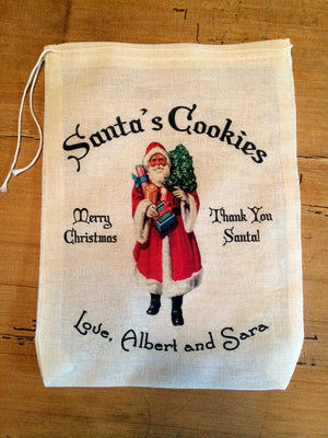 Santa's Cookies Christmas Bag - Personalized Bag