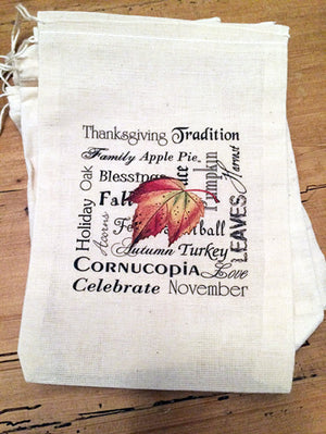 Thanksgiving Holiday Favor Gift Bags