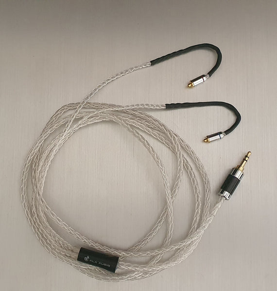 IEM Headphone Cable Upgrade - 2.0m (8-Core, >99.9% Pure-Silver)