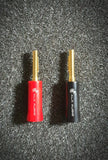 Pure-Copper 24k Gold Plated Speaker Cable Banana Plug Connectors by A.L.A Audio