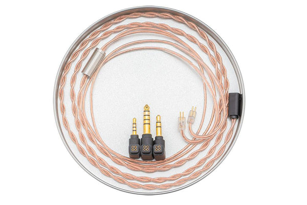 Moondrop 0.78mm 2Pin OCC Copper Headphone Upgrade Cable 4.4mm + 2.5mm + 3.5mm all-in-one