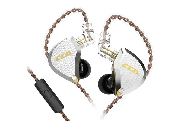 CCA C12 Earphone Hybrid technology 12 unit In-Ear Noise Reduction HiFi Earphone - Audiophile Store