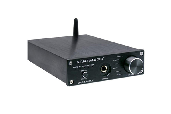 FX Audio DAC-X6 MKII ESS9018 TPA6120 Chip Bluetooth 5.0 APTX USB DAC & Headphone/Pre Amplifier - Audiophile Store