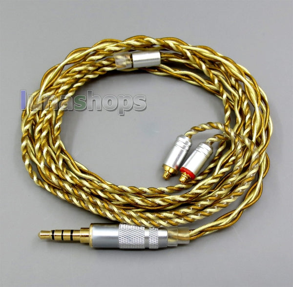 Silver + Gold Plated Mixed Earphone Cable For Shure se535 se846 se425 se215 MMCX - Audiophile Store